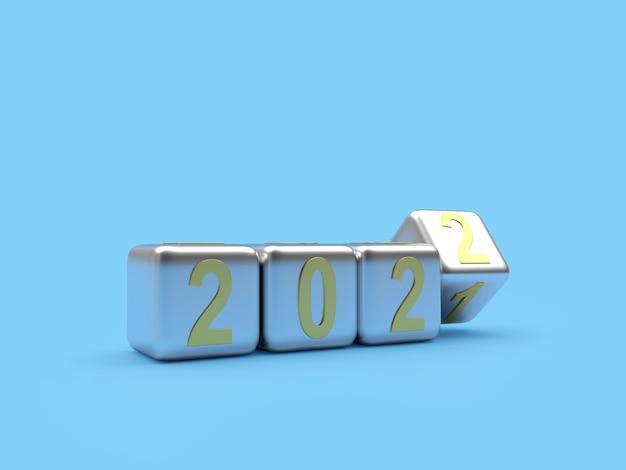 Новогодние числа меняются на серебряных кубиках