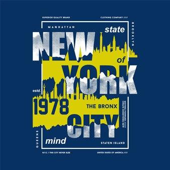 뉴욕시 추상 그래픽 타이포그래피 벡터 t 셔츠 디자인