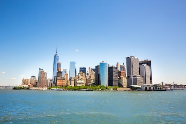 Нью-йорк, манхэттен, центр города, вид на гудзон