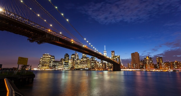 New york city skyline by night