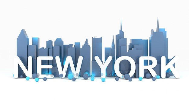New york cityscape background 3d rendering