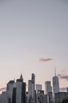 New york skyline with copy-space