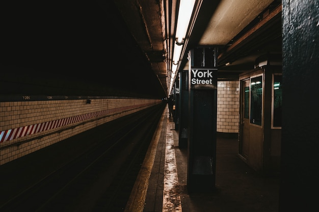 The new york subway station