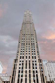 New york, usa - may 01, 2016: rockefeller center in new york city