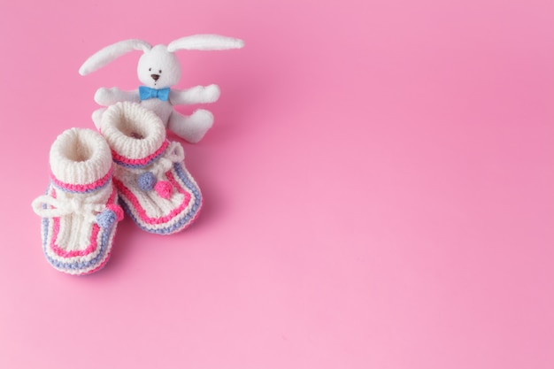 Newborn small toy with booties