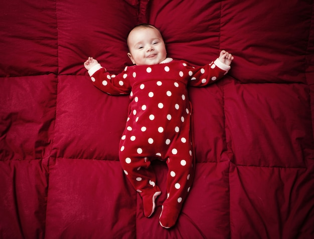 Newborn with christmas suit