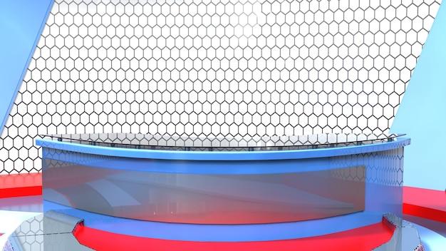 ニューススタジオ、テレビ番組の背景