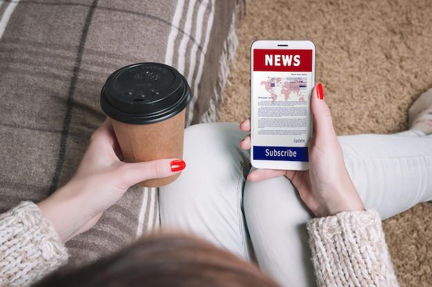 ニュース更新ジャーナリズムヘッドラインメディアコンセプト