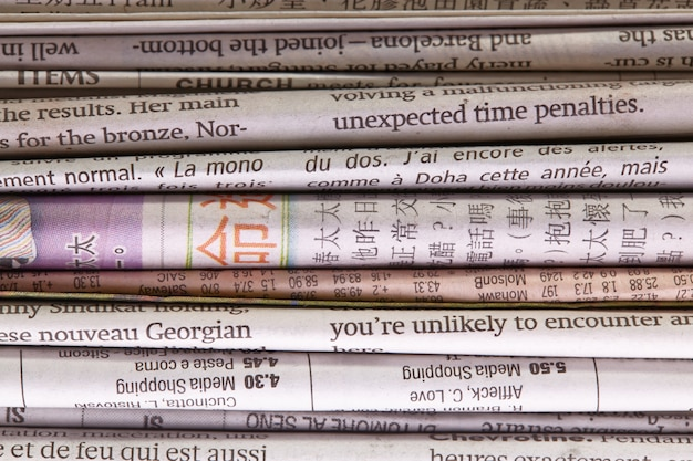 Newspaper background.