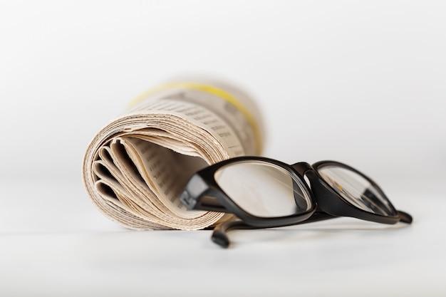 Newspaper close up