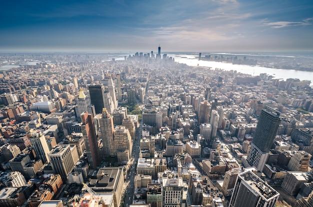 Горизонт нью-йорка, нью-йорк, соединенные штаты америки