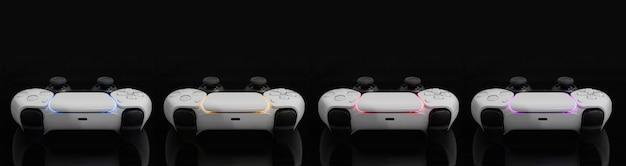 Игровые контроллеры нового поколения на черном