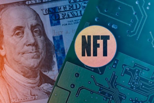 Монета нфт на печатной плате электронная плата доллар сша и технология нфт внедряют новые нфт ...