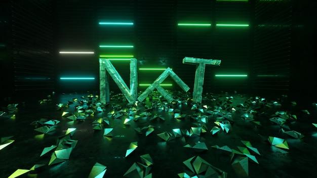 Nft 암호화 예술 기호. cryptocurrency 디지털 머니, 수집품, 사이버 코인 및 암호화 통화.