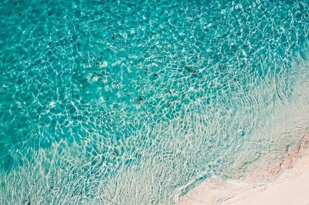ボルダー島またはnga khin nyo gyee島、ミャンマーのビーチの空撮