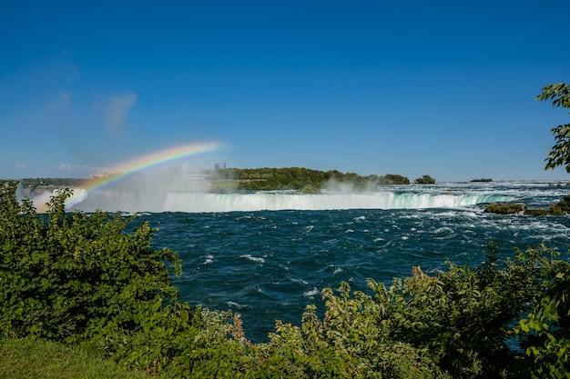Ниагарский водопад, подкова и радуга