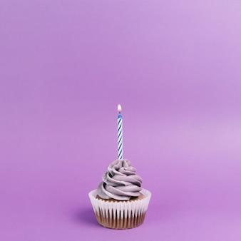 Nice cupcake with candle
