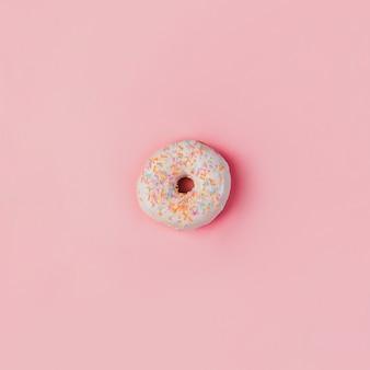 Nice donut on pink