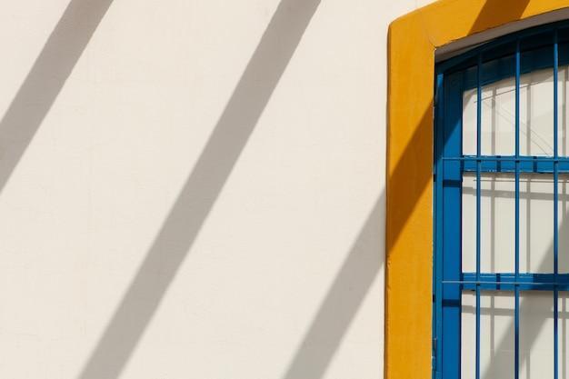 Nice facade mediterranean house with drop shadows