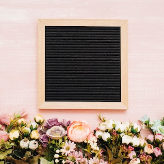Nice flowers with chalkboard