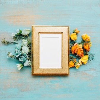 Nice flowers with vintage frame.