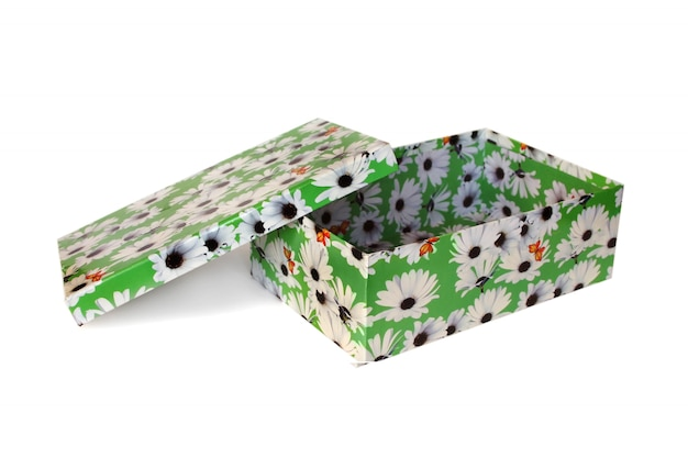 分離された素敵なグリーンボックス