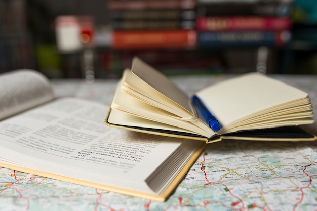 Nice guidebook and notebook on map