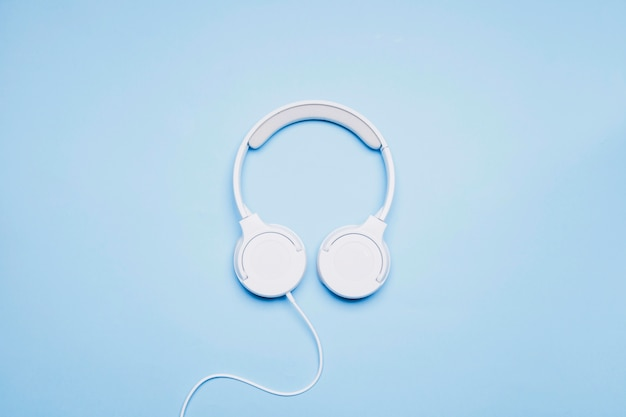 Nice headphones on blue