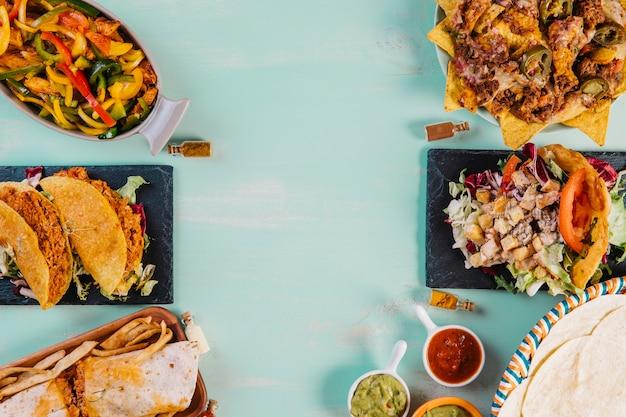 Хорошая мексиканская пищевая композиция