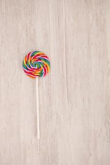 Nice round lollipop with many colors