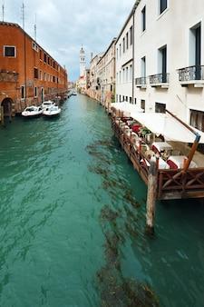 좋은 여름 베네치아 운하 전망, 베니스, 이탈리아