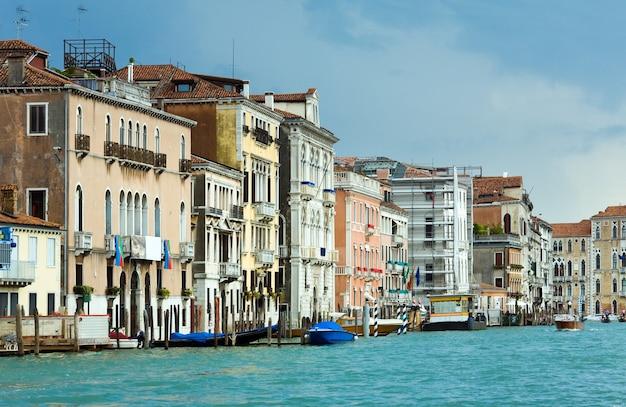 좋은 여름 베네치아 대운하 보기, 베니스, 이탈리아