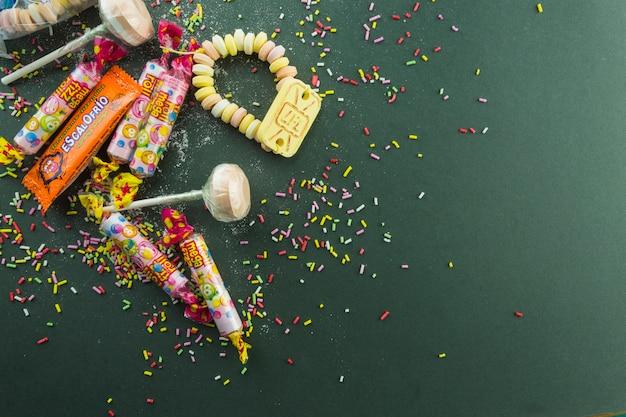 Nice sweets on sprinkles