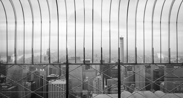 Nice view of manhattan. november in black and white