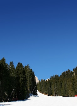 Nice view on mountains over perfect blue sky