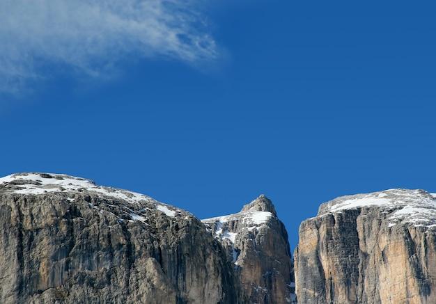 산과 하늘의 멋진 전망