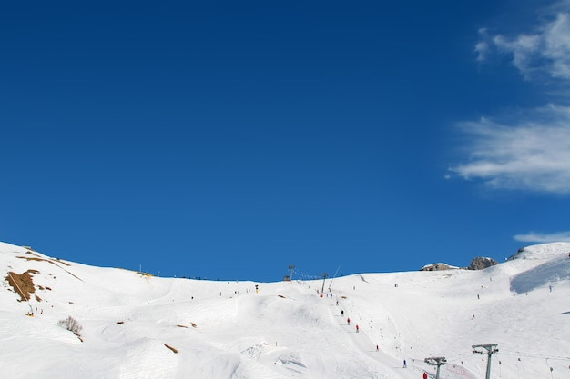 Nice view on the ski area in mountains