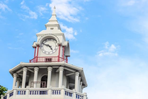 Nice view of thai style clock tower in bangkok