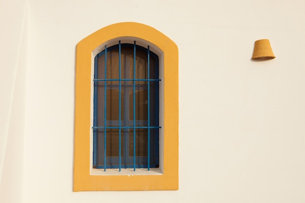 Nice windows on mediterranean house in spain
