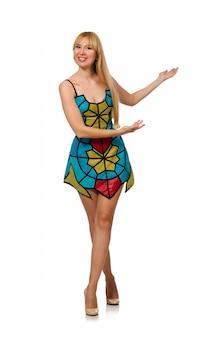 Nice woman model isolated