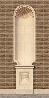 Niche in the classical style. 3d rendering
