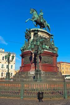サンクトペテルブルク、ロシアのnicholas iの記念碑