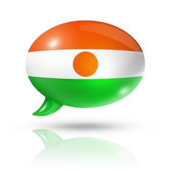 Нигер флаг речи пузырь