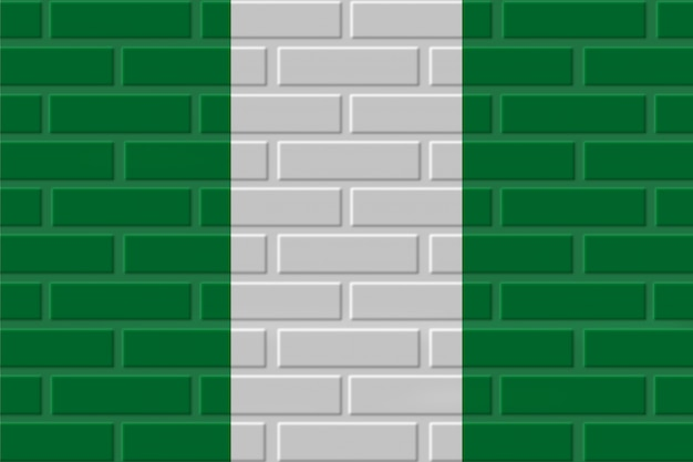 Nigeria brick flag illustration