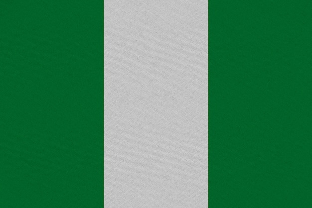 Nigeria fabric flag