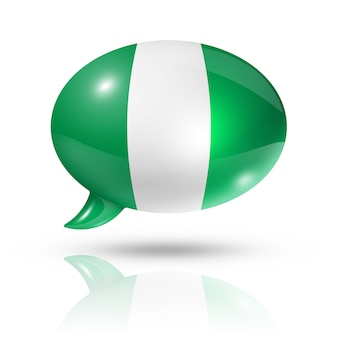 Nigerian flag speech bubble