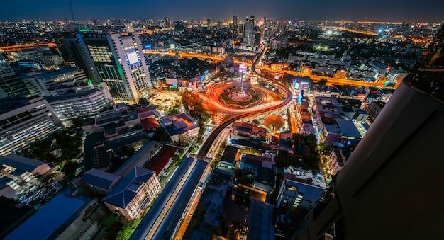 Nigh view of a modern city