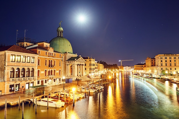 Night cityscape of venice