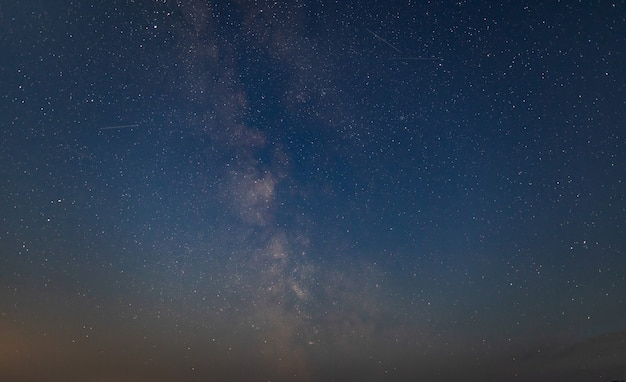 Night landscape of starry sky and milky way background