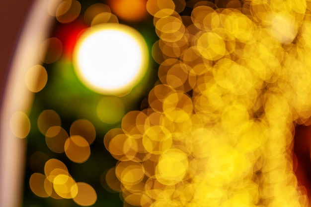Night light at city colorful bokeh abstract background blur lens flare reflection beautiful glitter